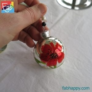 poppy baubles 6cm mirror
